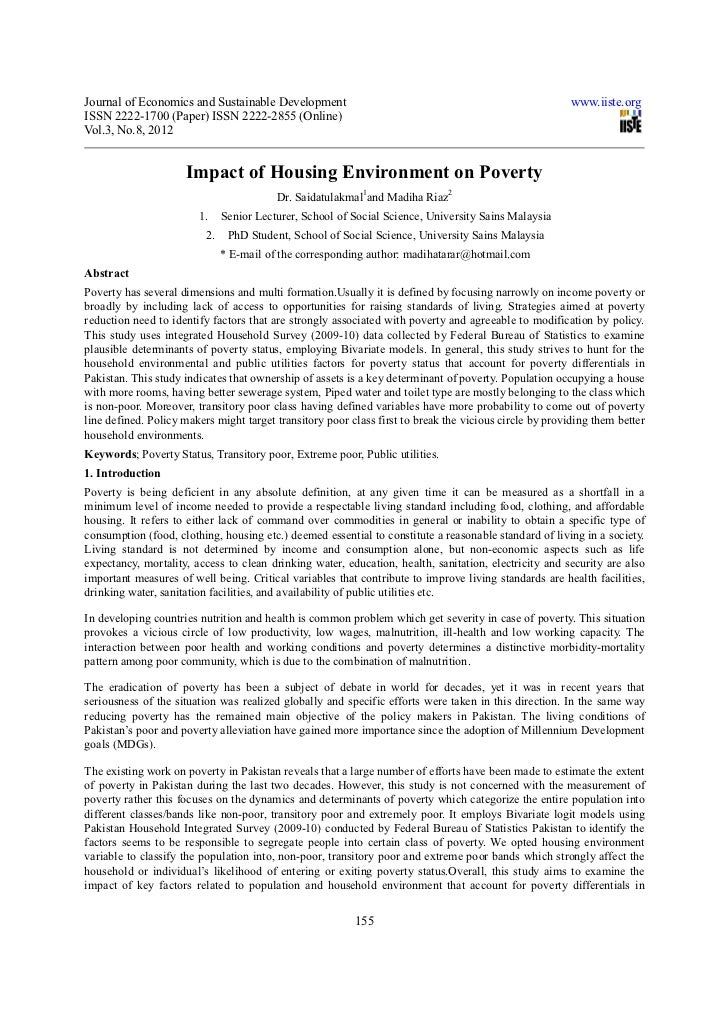 Journal of Economics and Sustainable Development                                                         www.iiste.orgISSN...