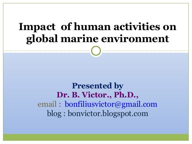 effects of human activities on the