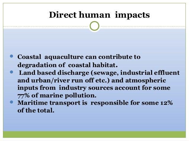 Human causes of coastal erosion
