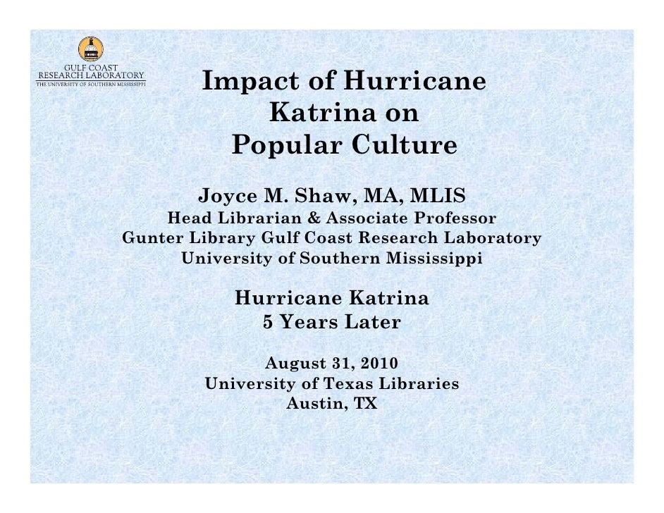Impact of hurricane katrina on popular culture (august 2010)rev