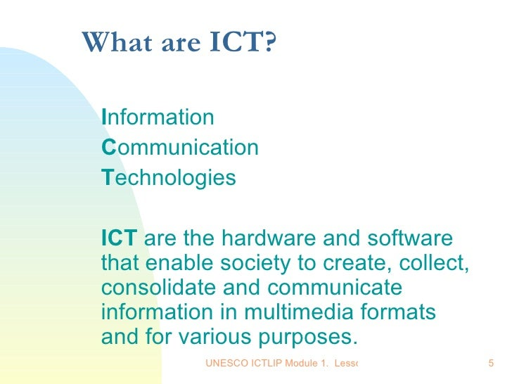what really are ict