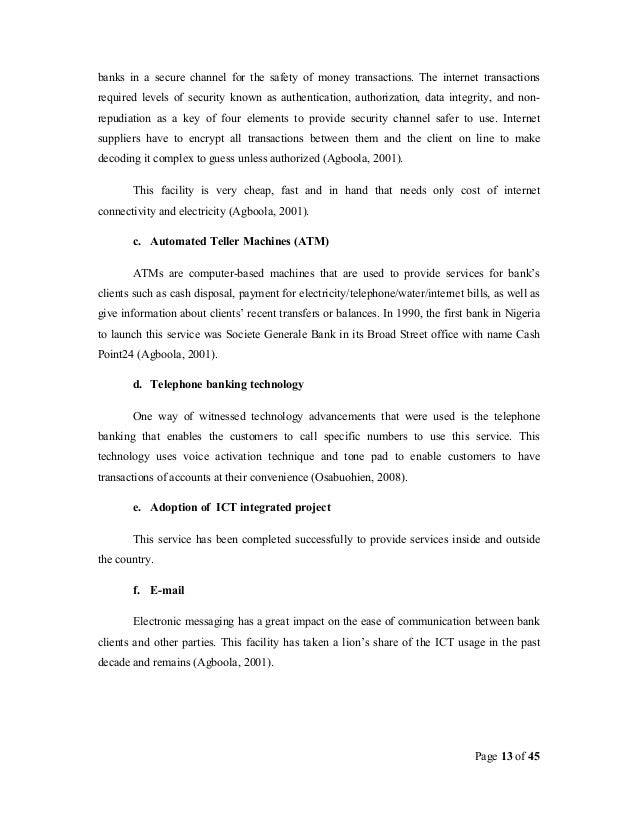 impact of ict on banking and Free essay: abstract the study is a comprehensive evaluation of the impact of ict on the banking industry (a case study of first capital plus) three.