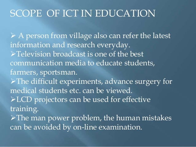 role of ict in education Cambridgejournalofeducation,vol32,no2,2002 theroleofictinscience education angelamcfarlane&silvestrasakellariou universityofbristolgraduateschoolofeducation.