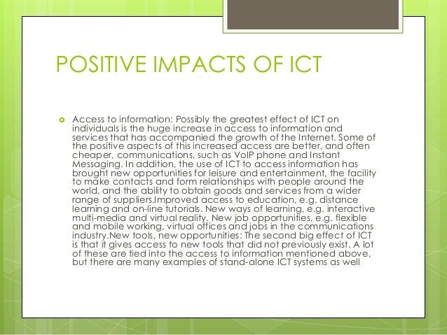 impact of ict on education pdf