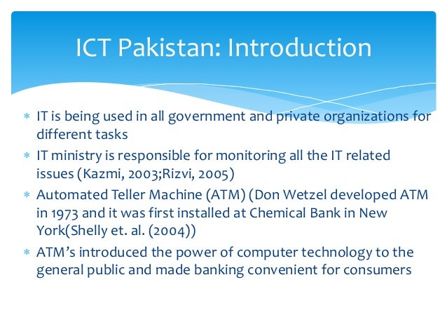 an introduction to the analysis of ict Information and communications technology (ict) 21 goal/target role of icts 1 eradicate extreme poverty and hunger halve, between 1990 and 2015, the.