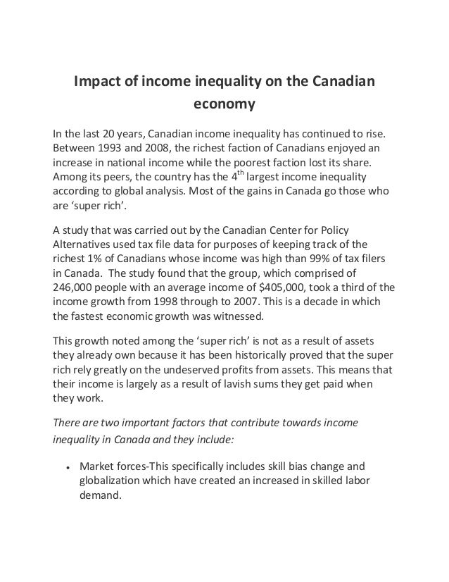 The Canadian Economic System Essay Sample