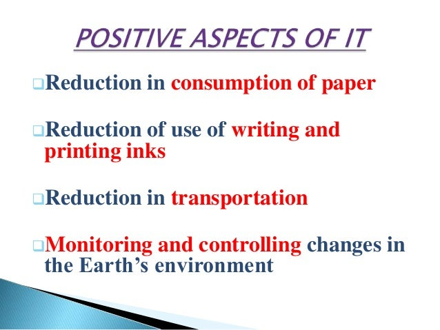 positive effects of technology essay Effect of technology in education essay - technology in education is a touchy subject in the united states technology's positive and helpful effect on education essay - contrary to popular belief, technology has and is helping with the improvement of education.
