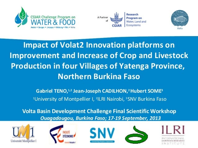 A Partner of Impact of Volat2 Innovation platforms on Improvement and Increase of Crop and Livestock Production in four Vi...