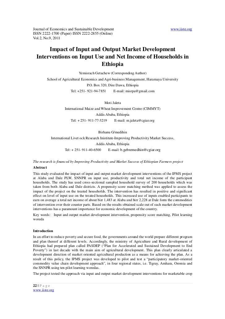 Journal of Economics and Sustainable Development                                             www.iiste.orgISSN 2222-1700 (...
