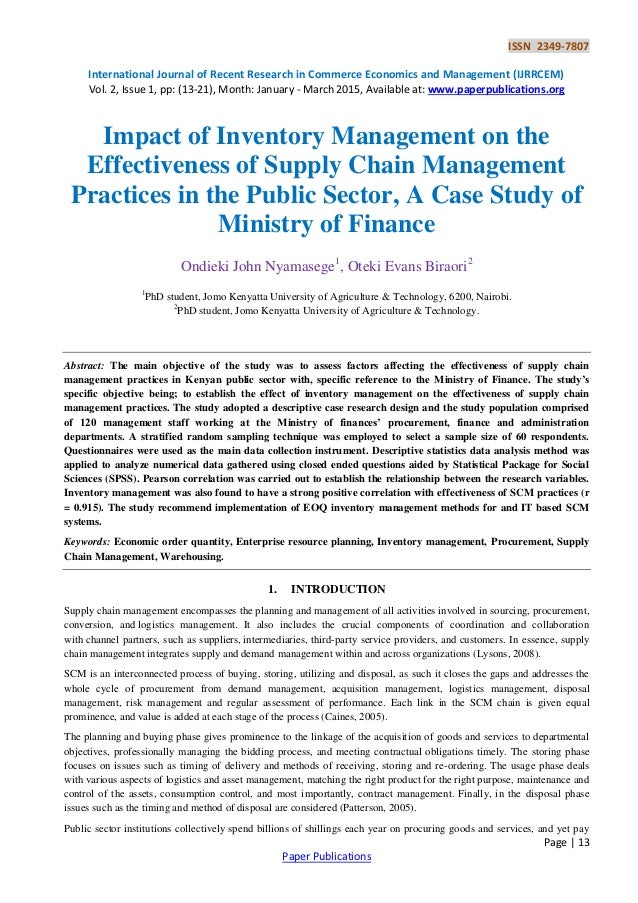 Case study of principles and practices of management