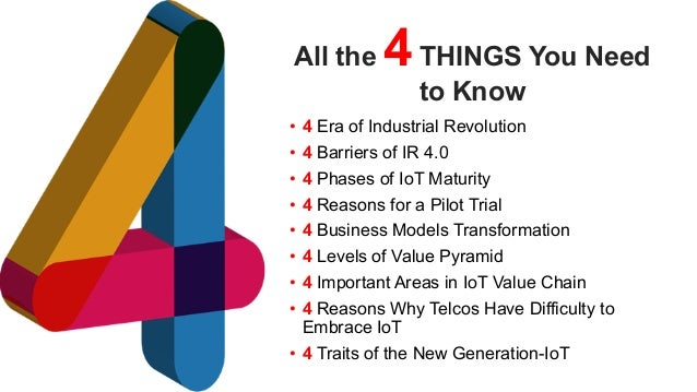 favoriot All the 4THINGS You Need to Know • 4 Era of Industrial Revolution • 4 Barriers of IR 4.0 • 4 Phases of IoT Maturi...