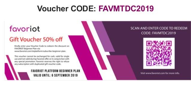 favoriot Voucher CODE: FAVMTDC2019