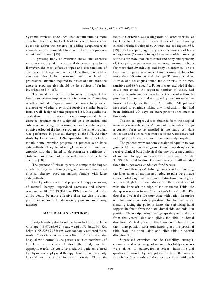 World Appl. Sci. J., 14 (3): 378-386, 2011Systemic reviews concluded that acupuncture is more                  inclusion c...