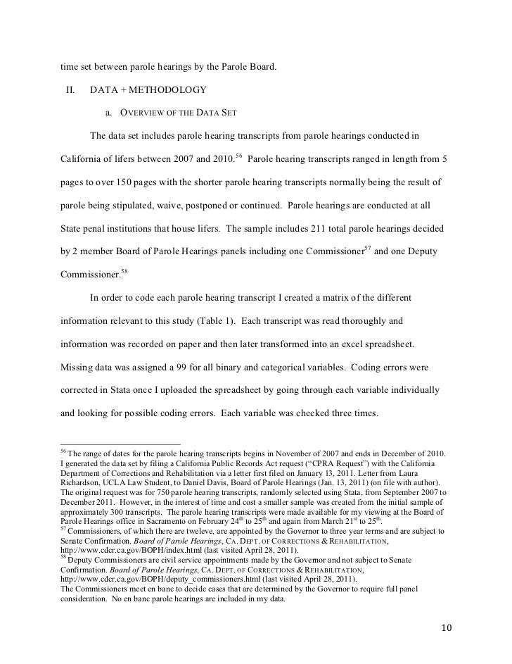 letter of recommendation to the parole board from rena chaney a ...