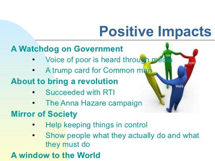 positive impact of media on society