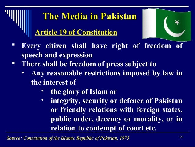 Restrictions of freedom of speech