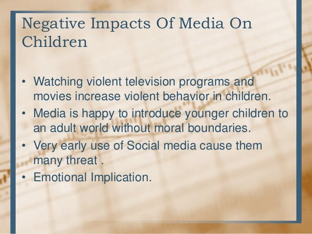 the negative impact of media in society Social media negative effects social media plays a socialegative impacts of social media has drastically changed since it was introduced in 1979 when usenet systems were first conceived by tom truscott and jim ellis,  negative effects of social media on society.