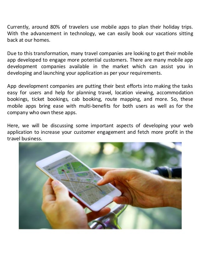 Impact of mobile apps on the travel and tourism industry