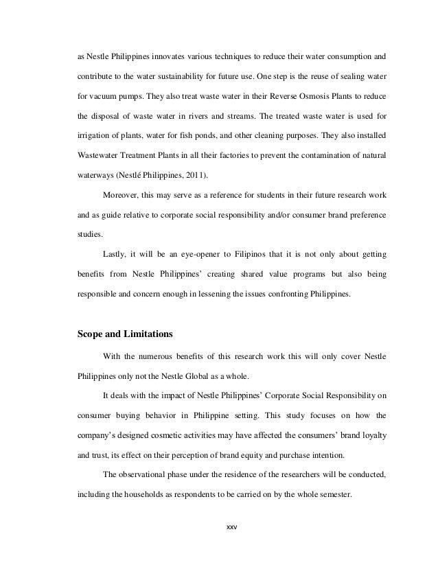 IMPACT OF NESTLE PHILIPPINE'S CORPORATE SOCIAL