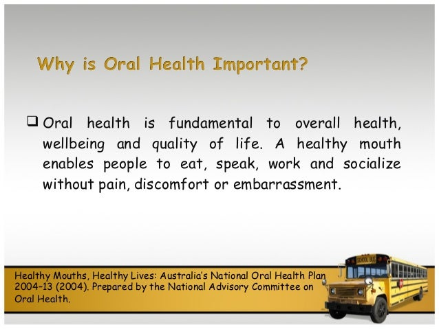 Overall Health And Oral Health
