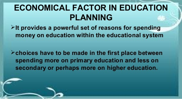 reasons for educational planning