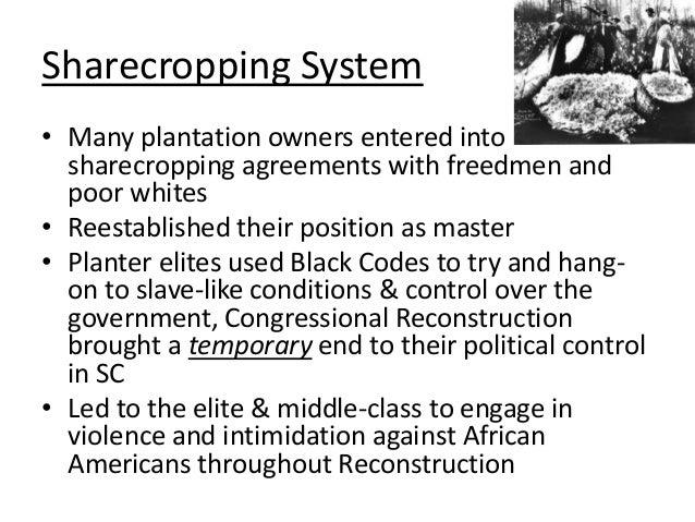 Impact of reconstruction 852 sharecropping platinumwayz