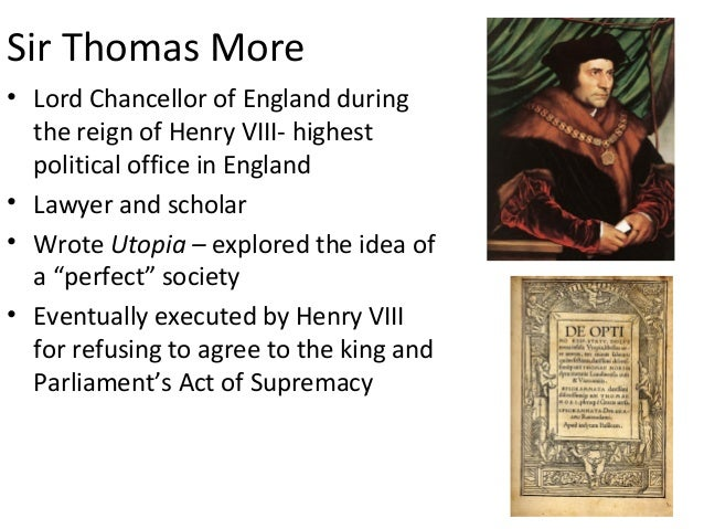 an analysis of thomas mores utopia and renaissance society Thomas mores utopia was first published 500 years ago   its central idea, of a pe.