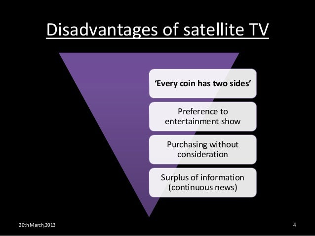 essay on impact of satellite television The social aspects of television are influences this medium has had on society since its inception the belief that this impact has been dramatic has been largely.
