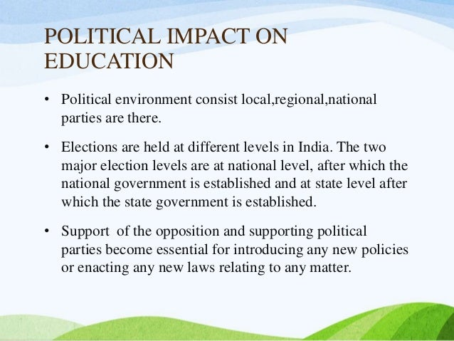 political education in india