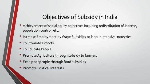 impact of subsidies on indian economy