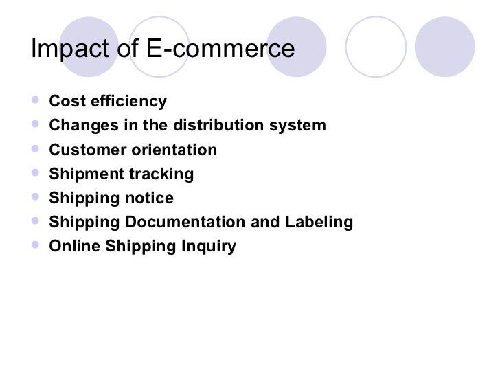 The effect of e commerence on supply