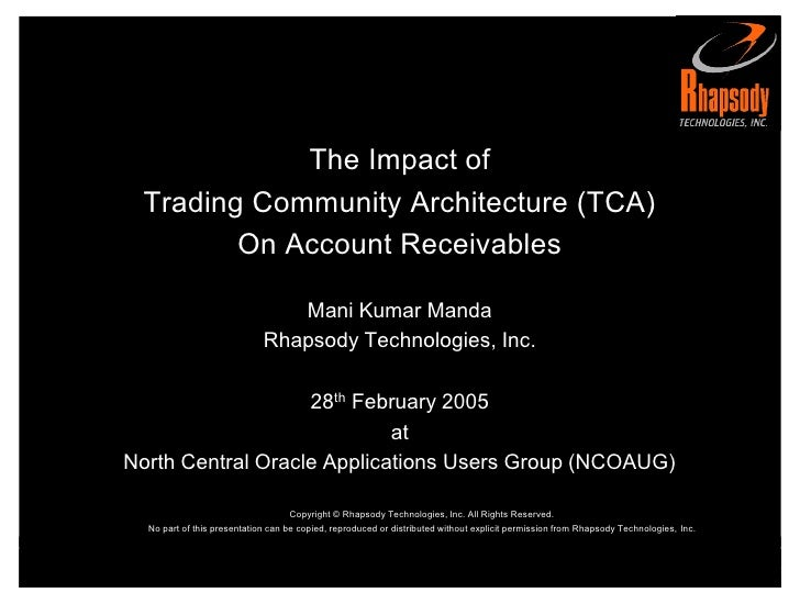 Impact of Trading Community Architecture (TCA) on Oracle Receivables