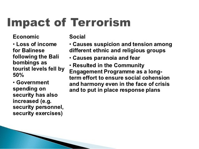 impact of globalization on terrorism essay The impact of 9/11 on globalization analytical essay by numero uno the impact of 9/11 on globalization a study of the september 11th terrorist attack on the usa in terms of its effect on globalization.