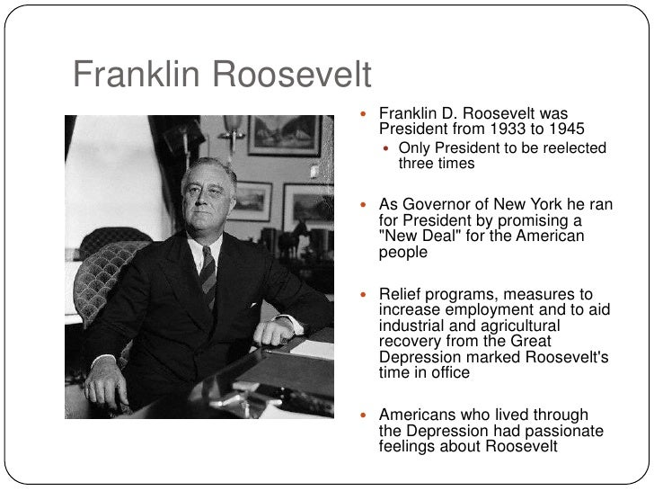 franklin delano roosevelt pulls america through the great depression Chapter 9 franklin roosevelt and the depression franklin delano roosevelt is commonly considered he successfully led his countrymen through the depression.
