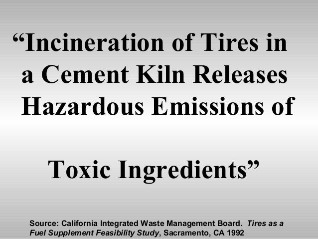 Impact Of Tire Burning On Kiln Emissions