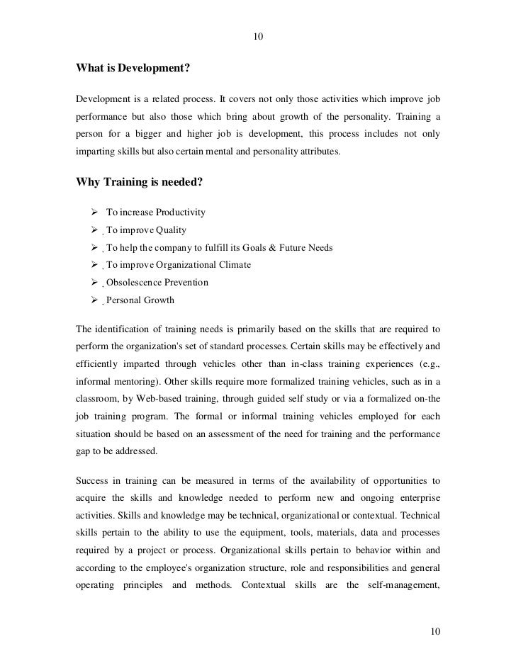 the effects of training and developing Training and development in small businesses july 28, 2013 training and development in small businesses introduction increased globalization coupled with a myriad of other factors such as entry of more firms into the market and use of better machines have led to immense competition between various firms (steele, 2009.