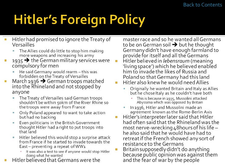 hitlers foreign policy and the treaty