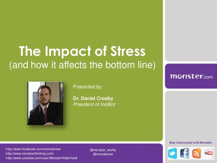 The Impact of Stress (and how it affects the bottom line)                                          Presented by:          ...