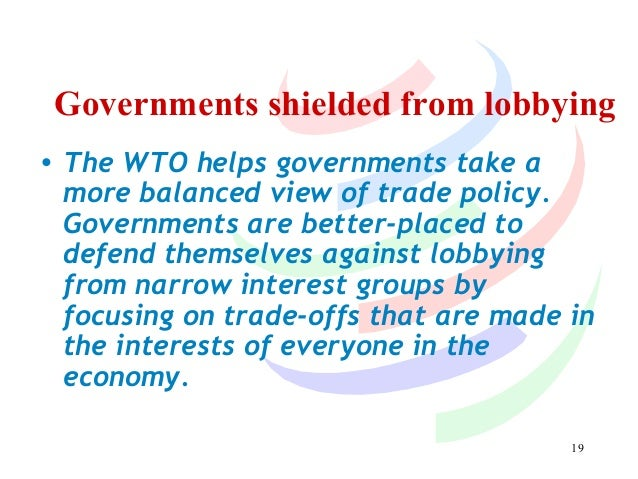 The impact of the wto on