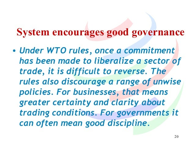 the effects of the wto on This paper analyzes the effects of the world trade organization (wto) on trade   the paper assesses the effect of the wto on trade creation, or the degree to.