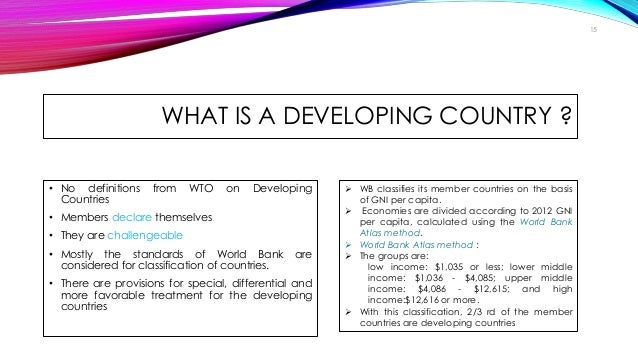 influence of developed countries on developing countries According to a united nations development fund for women's report (1997),  over the past two decades the process of globalization has.