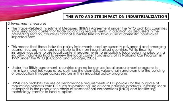 impacts of wto on trading countries The impact of trade opening on climate change note: this webpage is prepared by the secretariat under its own responsibility and is intended only to provide a general explanation of the subject matter it addresses.