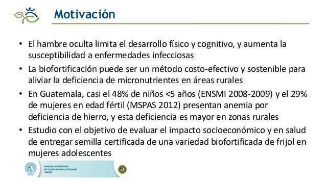 Impacto de las intervenciones agricolas y de salud para reducir la deficiencia de hierro en zonas rurales de Guatemala Slide 3