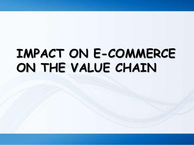The impact of e commerce developments on