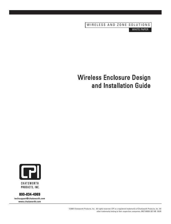 WIRELESS AND ZONE SOLUTIONS                                                                                               ...