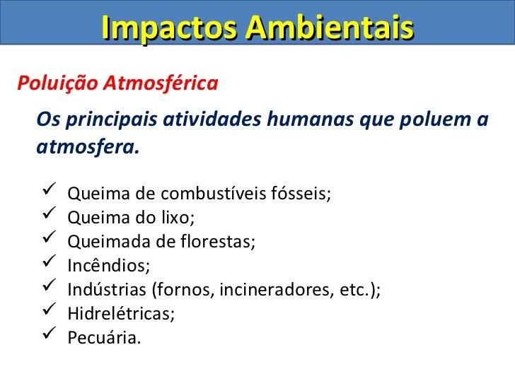 Impactos Ambientais Intensivo