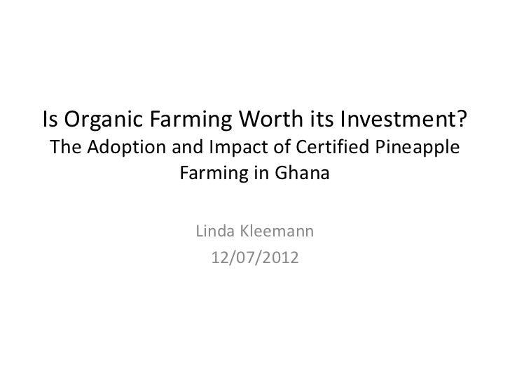 Thesis on adoption of organic farming