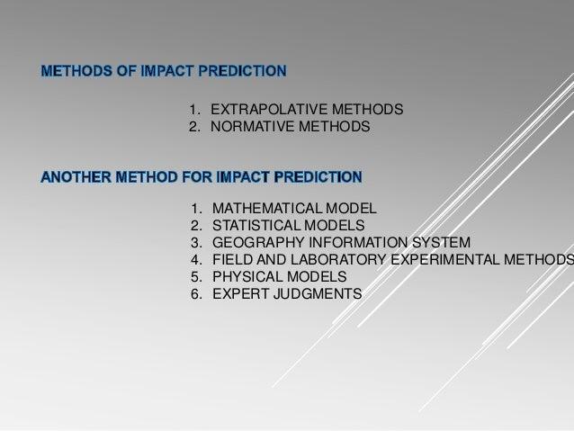 Methods of impact prediction in eia report