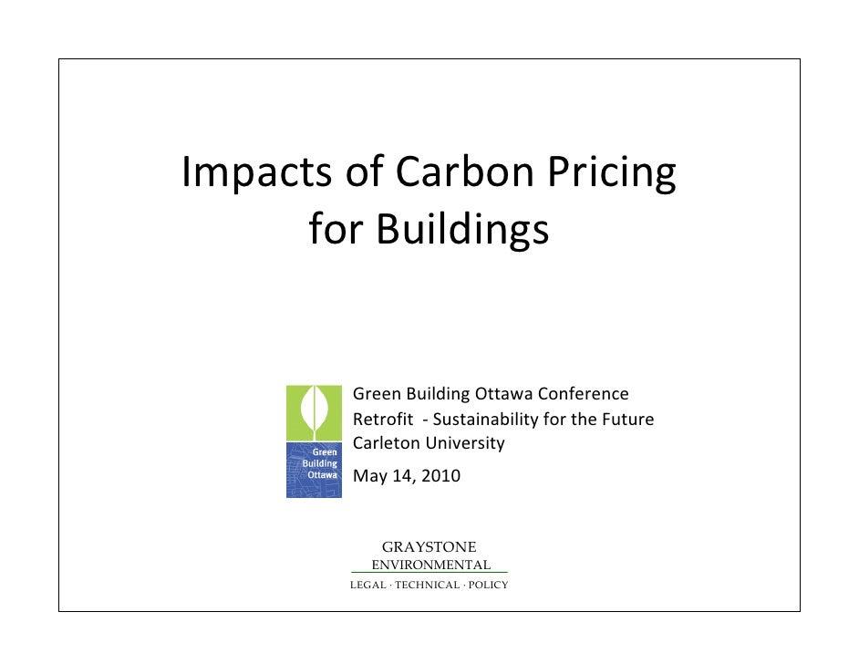 ImpactsofCarbonPricing       forBuildings           GreenBuildingOttawaConference         Retrofit‐ Sustainabil...