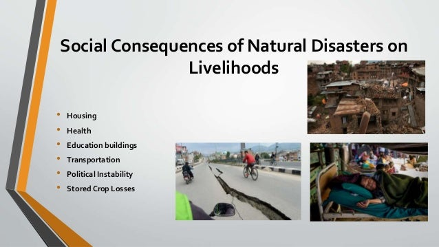 Impact of human activities on natural hazards